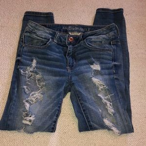 American eagle mid rise jegging ankle jeans size 4